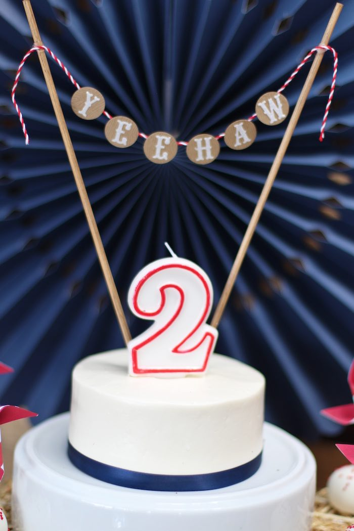 Cake bunting from a Cowboy Western Birthday Party via Kara's Party Ideas | KarasPartyIdeas.com (26)
