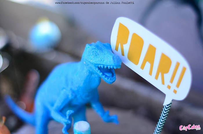 Cake toppers from a Dinosaur Birthday Party via Kara's Party Ideas | KarasPartyIdeas.com (25)