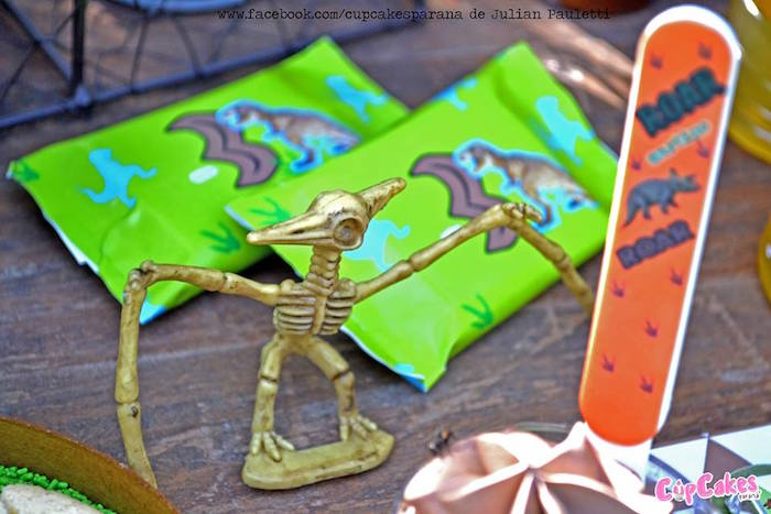 Skeletal dinosaur from a Dinosaur Birthday Party via Kara's Party Ideas | KarasPartyIdeas.com (19)