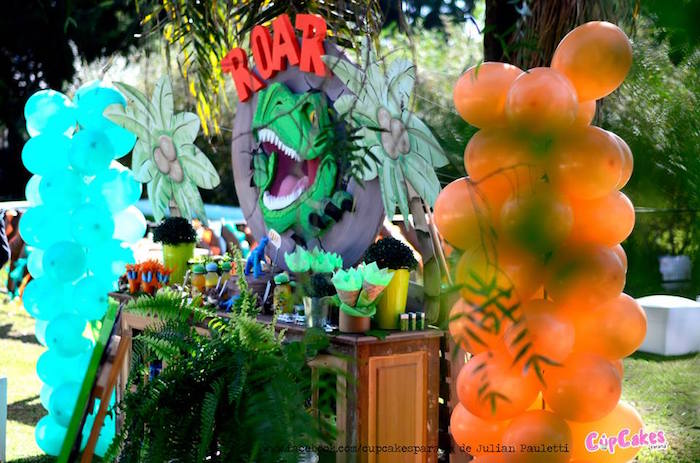 Dessert table from a Dinosaur Birthday Party via Kara's Party Ideas | KarasPartyIdeas.com (36)