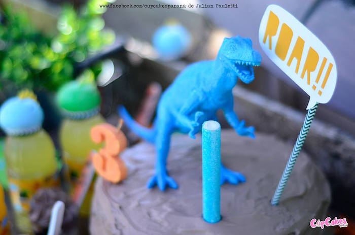 Cake from a Dinosaur Birthday Party via Kara's Party Ideas | KarasPartyIdeas.com (14)