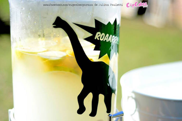 Drink dispenser from a Dinosaur Birthday Party via Kara's Party Ideas | KarasPartyIdeas.com (13)