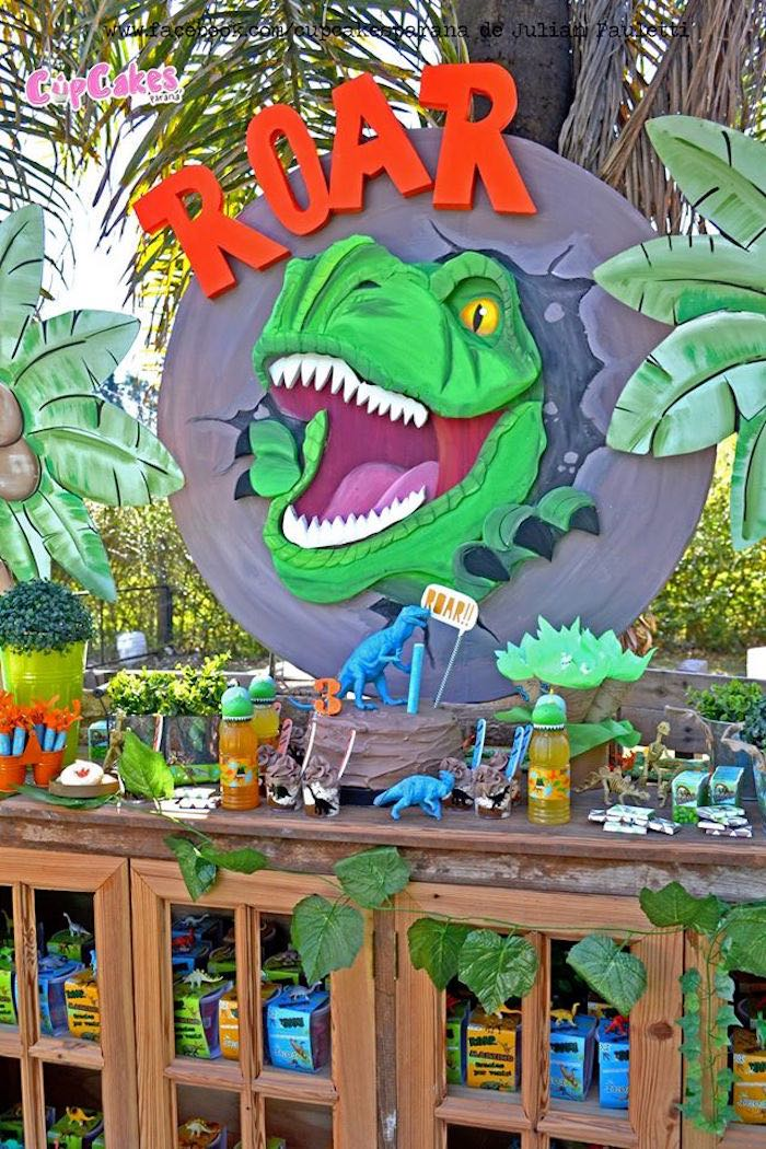 Dessert table details from a Dinosaur Birthday Party via Kara's Party Ideas | KarasPartyIdeas.com (12)