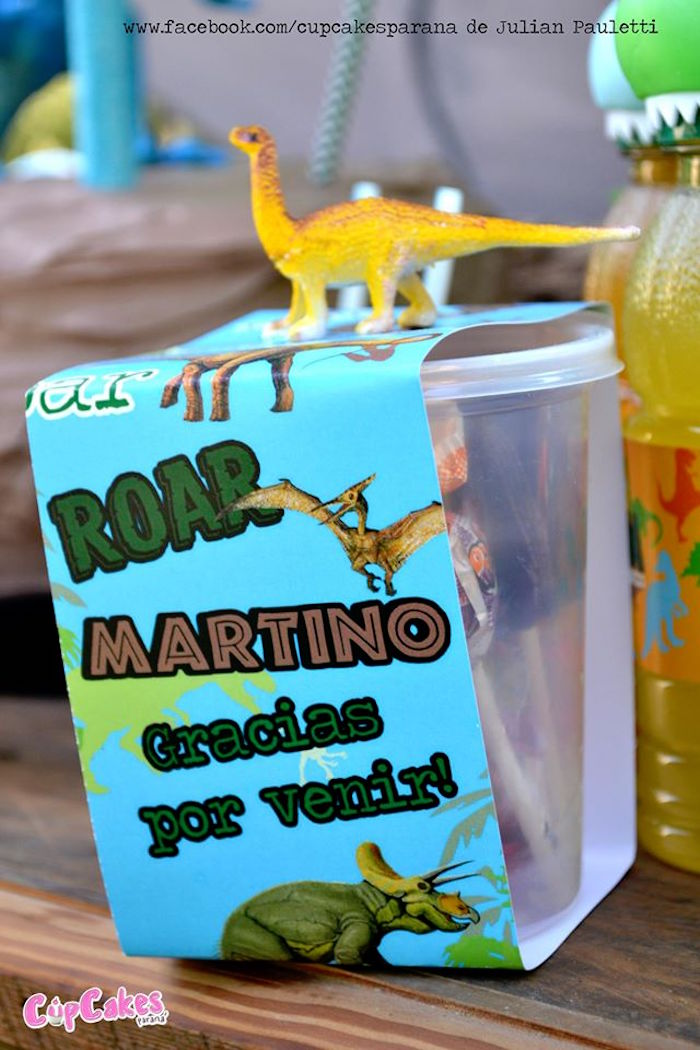 Favor from a Dinosaur Birthday Party via Kara's Party Ideas | KarasPartyIdeas.com (11)