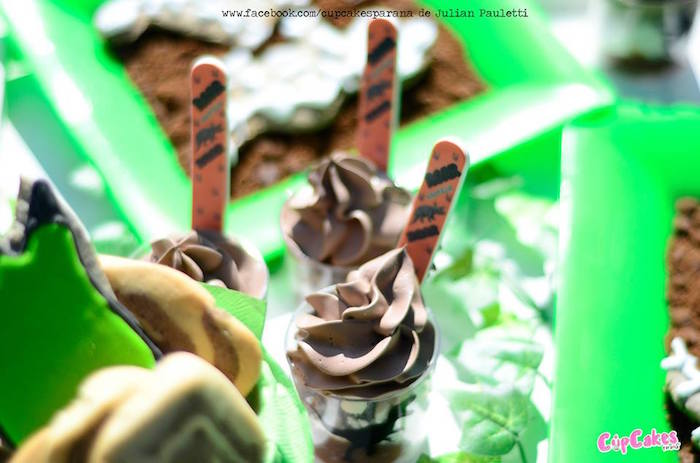 Dessert cup from a Dinosaur Birthday Party via Kara's Party Ideas | KarasPartyIdeas.com (5)