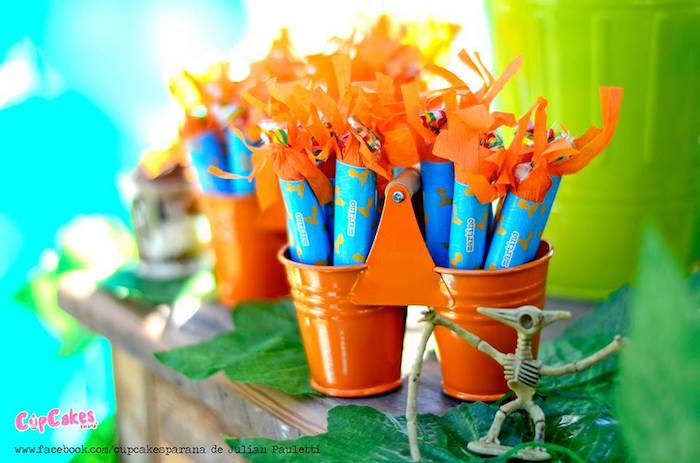 Favors from a Dinosaur Birthday Party via Kara's Party Ideas | KarasPartyIdeas.com (3)