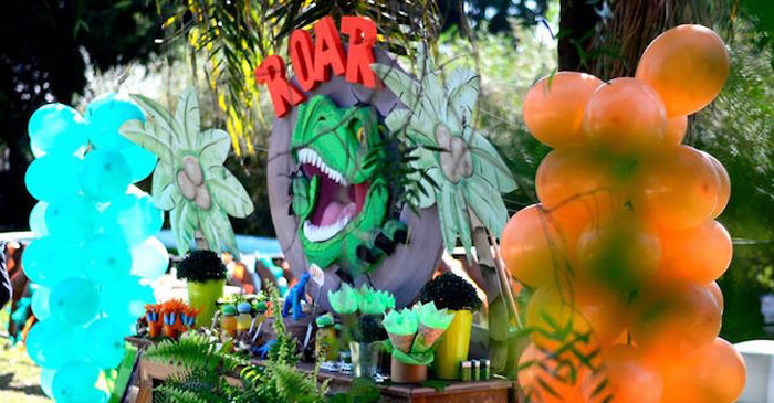 Dessert table from a Dinosaur Birthday Party via Kara's Party Ideas | KarasPartyIdeas.com (2)
