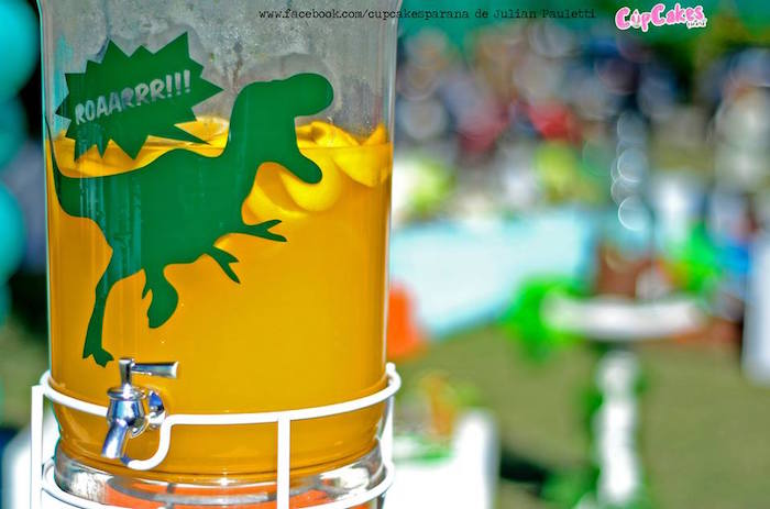 Drink dispenser from a Dinosaur Birthday Party via Kara's Party Ideas | KarasPartyIdeas.com (31)