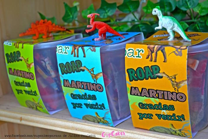 Favors from a Dinosaur Birthday Party via Kara's Party Ideas | KarasPartyIdeas.com (28)