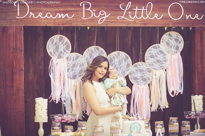 Momma & Baby from a Dream Catcher Baby Shower via Kara's Party Ideas | KarasPartyIdeas.com (35)