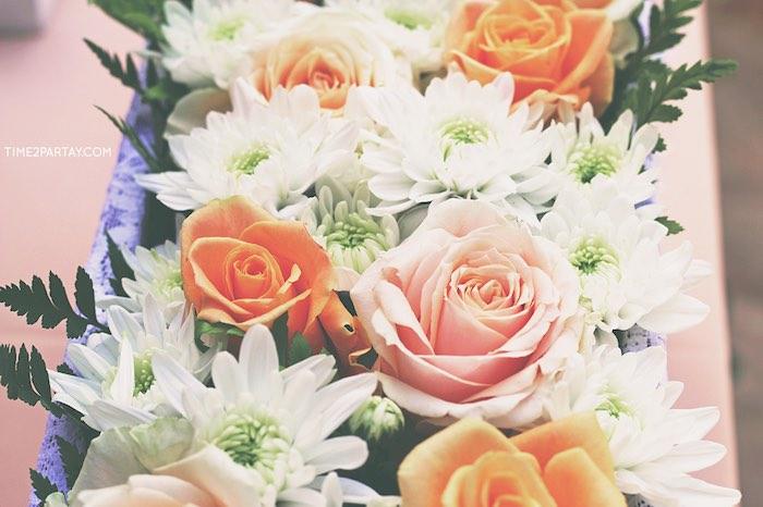 Flowers from a Dream Catcher Baby Shower via Kara's Party Ideas | KarasPartyIdeas.com (32)