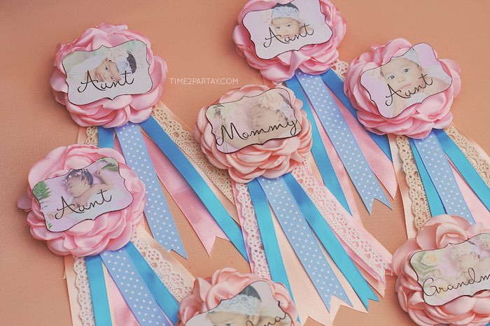 Honorary guest ribbons from a Dream Catcher Baby Shower via Kara's Party Ideas | KarasPartyIdeas.com (28)