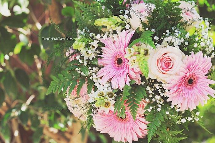 Flowers from a Dream Catcher Baby Shower via Kara's Party Ideas | KarasPartyIdeas.com (9)