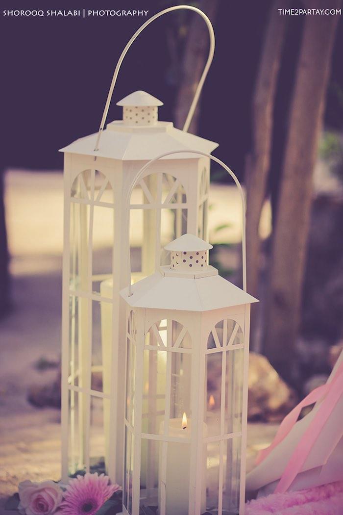 Lanterns from a Dream Catcher Baby Shower via Kara's Party Ideas | KarasPartyIdeas.com (8)
