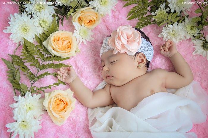 Sleeping baby from a Dream Catcher Baby Shower via Kara's Party Ideas | KarasPartyIdeas.com (42)