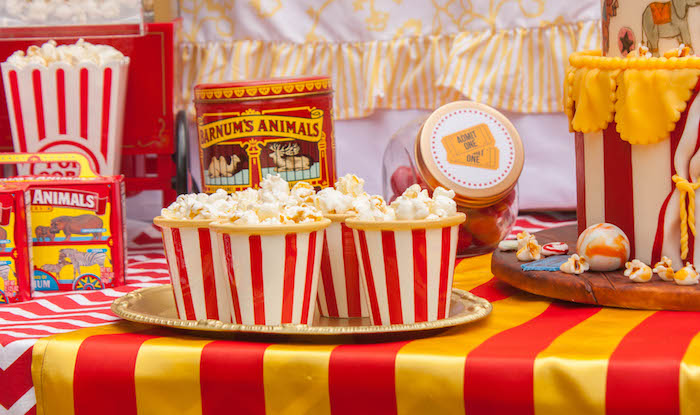 Dessert table detail from a Dumbo Circus Birthday Bash via Kara's Party Ideas | KarasPartyIdeas.com (5)