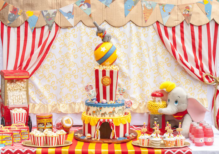 Karas Party Ideas Dumbo Circus Birthday Bash