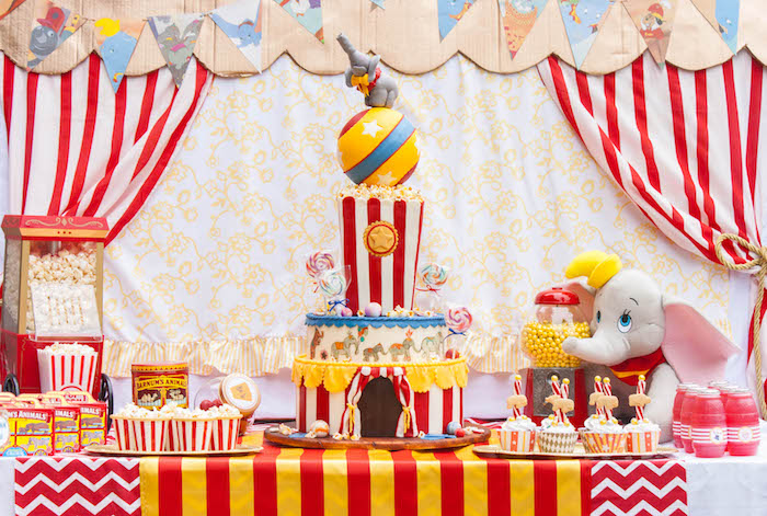 Kara S Party Ideas Dumbo Circus Birthday Bash Kara S