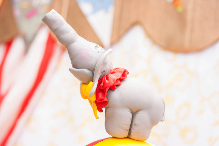 Dumbo cake topper from a Dumbo Circus Birthday Bash via Kara's Party Ideas | KarasPartyIdeas.com (11)
