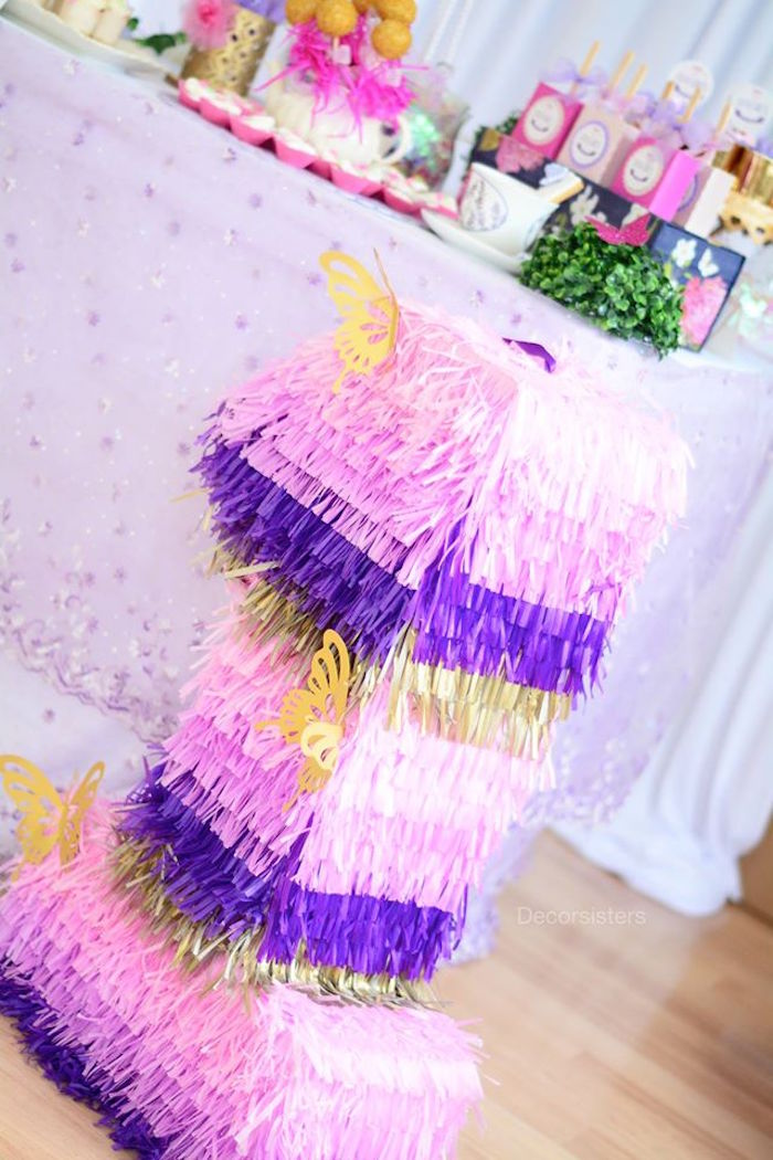 Piñata from an Enchanted Garden 1st Birthday Party via Kara's Party Ideas | KarasPartyIdeas.com - The Place for all Things Party! (16)