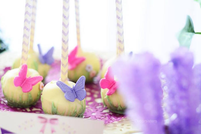 Enchanting cake pops from an Enchanted Garden 1st Birthday Party via Kara's Party Ideas | KarasPartyIdeas.com - The Place for all Things Party! (14)