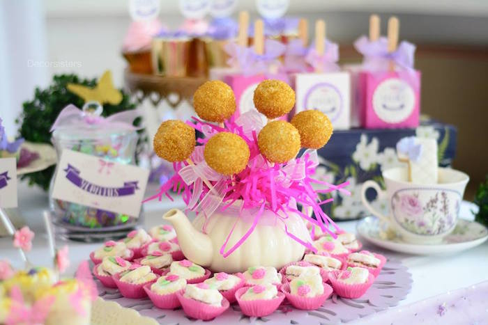 Sweet treats from an Enchanted Garden 1st Birthday Party via Kara's Party Ideas | KarasPartyIdeas.com - The Place for all Things Party! (13)