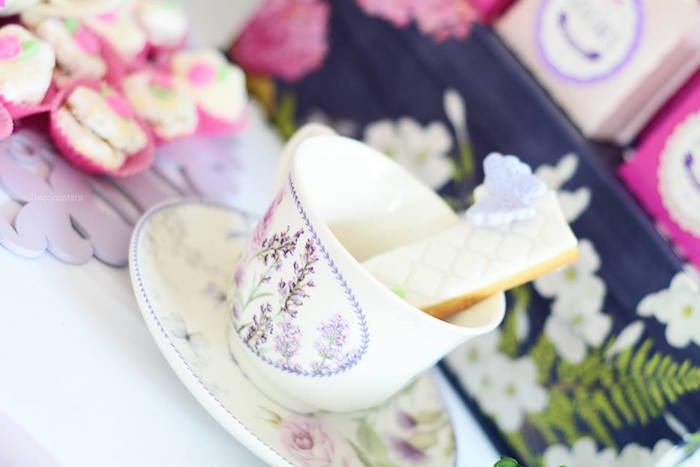 Tea cup & saucer from an Enchanted Garden 1st Birthday Party via Kara's Party Ideas | KarasPartyIdeas.com - The Place for all Things Party! (4)