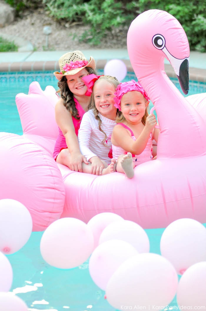 Flamingo Pool + Art Birthday Party by Kara Allen | Kara's Party Ideas KarasPartyIdeas.com Flamingle_-117