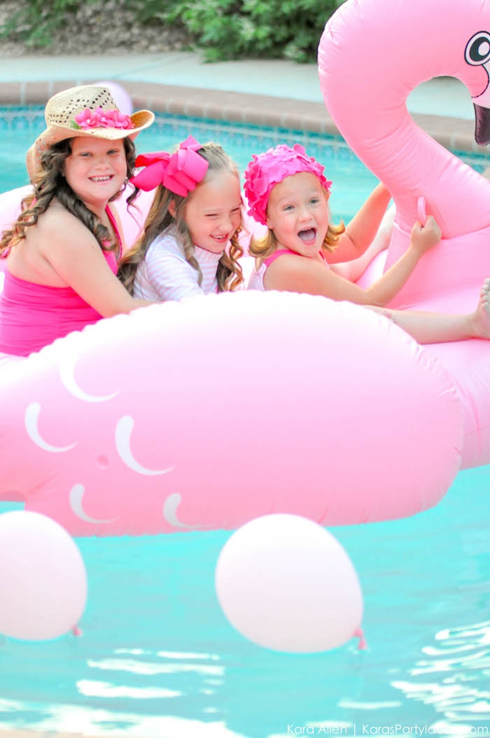 Flamingo Pool + Art Birthday Party by Kara Allen | Kara's Party Ideas KarasPartyIdeas.com Flamingle_-118