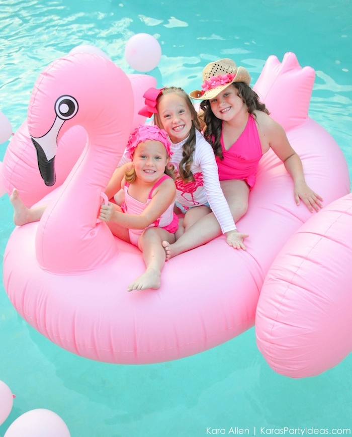 Flamingo Pool + Art Birthday Party by Kara Allen | Kara's Party Ideas KarasPartyIdeas.com Flamingle_-122