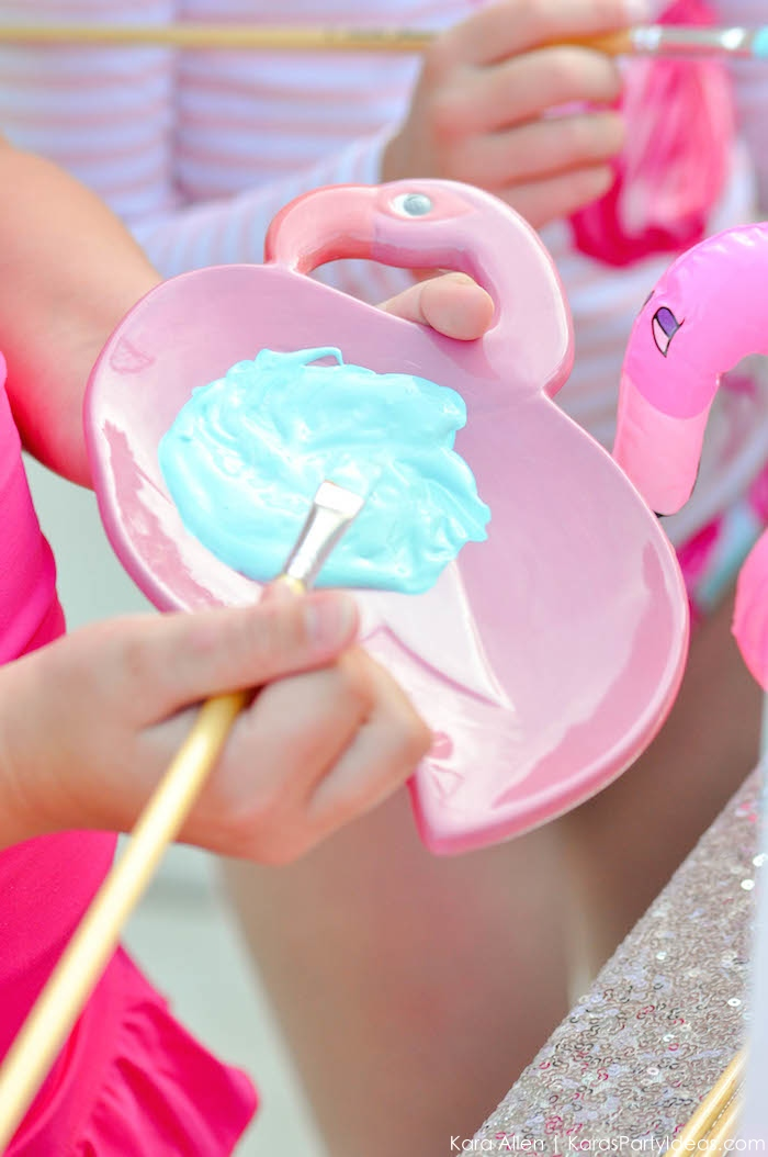 Flamingo Pool + Art Birthday Party by Kara Allen | Kara's Party Ideas KarasPartyIdeas.com Flamingle_-36