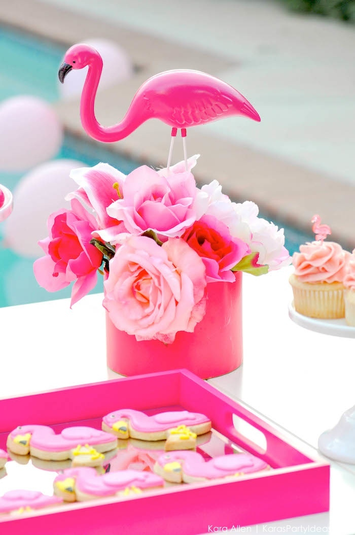 Flamingo Pool + Art Birthday Party by Kara Allen | Kara's Party Ideas KarasPartyIdeas.com Flamingle_-42