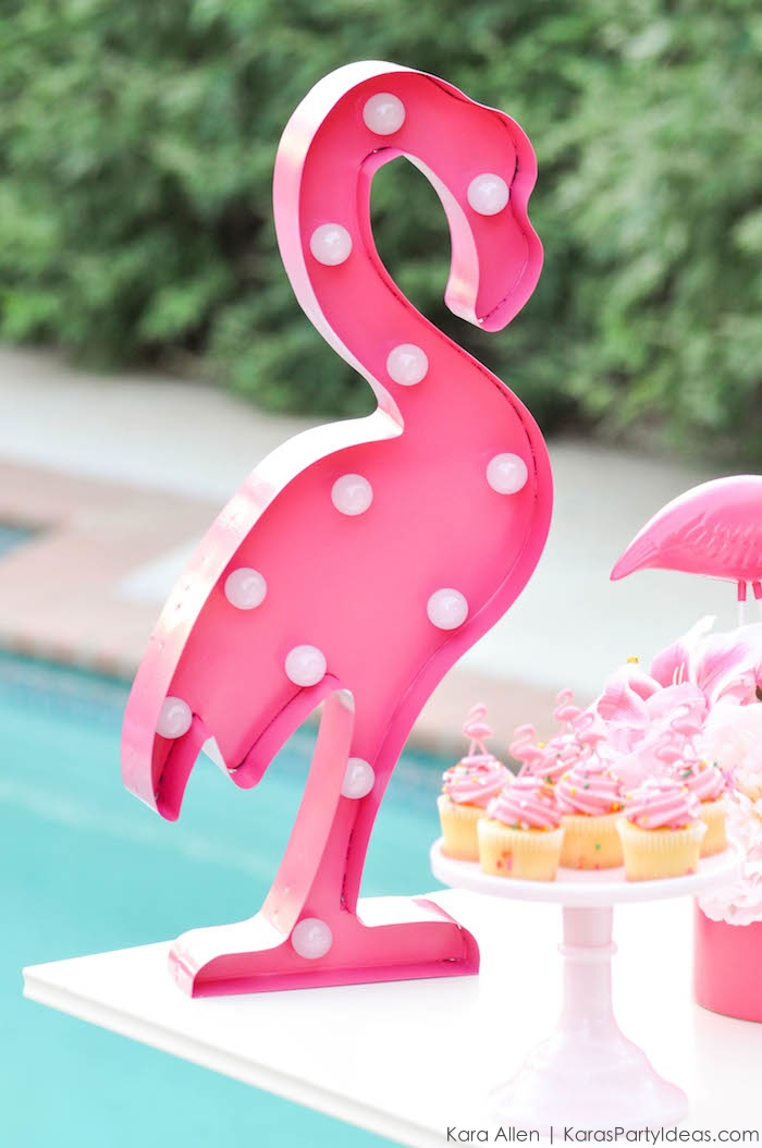 Flamingo Pool + Art Birthday Party by Kara Allen | Kara's Party Ideas KarasPartyIdeas.com Flamingle_-57