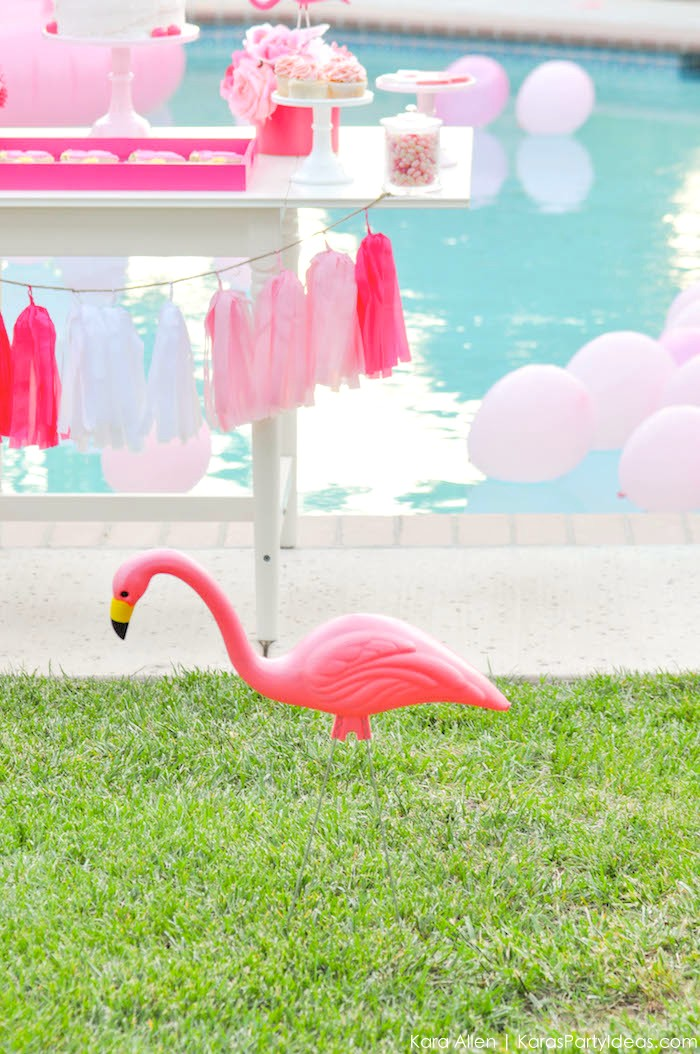 Flamingo Pool + Art Birthday Party by Kara Allen | Kara's Party Ideas KarasPartyIdeas.com Flamingle_-72