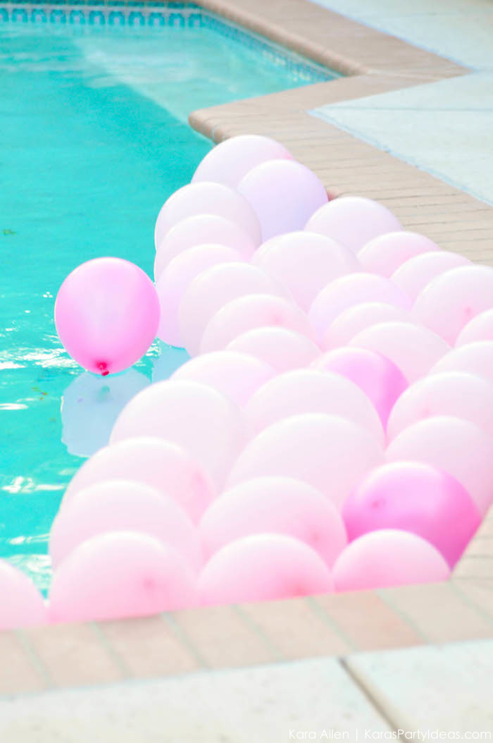 Flamingo Pool + Art Birthday Party by Kara Allen | Kara's Party Ideas KarasPartyIdeas.com Flamingle_-89