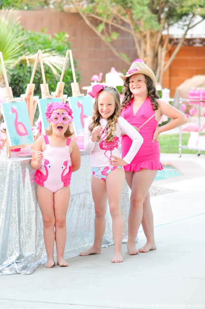 Flamingo Pool + Art Birthday Party by Kara Allen | Kara's Party Ideas KarasPartyIdeas.com Flamingle_-98