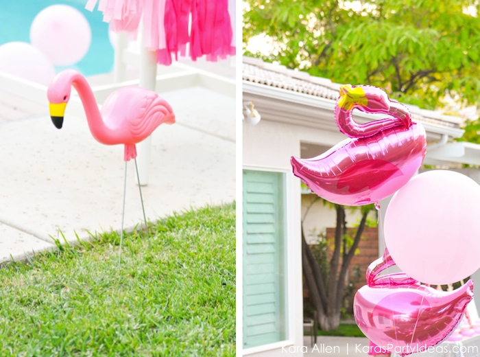 Flamingo themed pool art party by Kara's Party Ideas | Kara Allen | KarasPartyIdeas.com 2