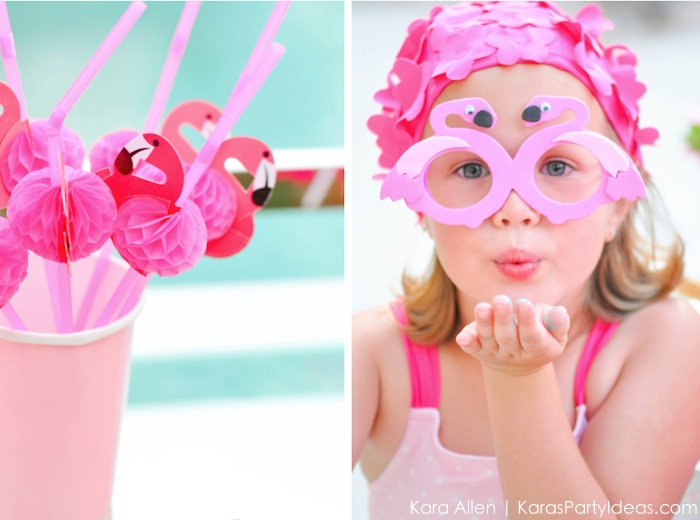Flamingo themed pool art party by Kara's Party Ideas | Kara Allen | KarasPartyIdeas.com 3