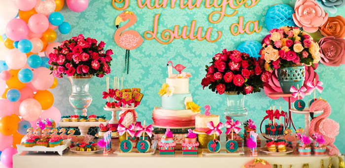 Floral Flamingo Party via Kara's Party Ideas | KarasPartyIdeas.com (2)