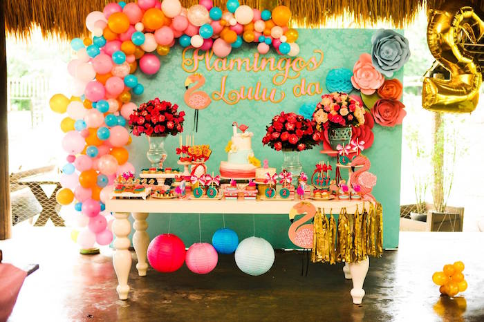 Floral Flamingo Party via Kara's Party Ideas | KarasPartyIdeas.com (18)