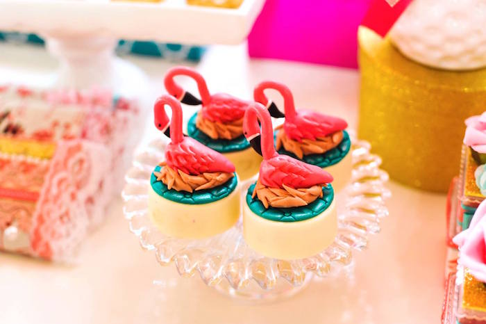 Flamingo Oreos from a Floral Flamingo Party via Kara's Party Ideas | KarasPartyIdeas.com (14)