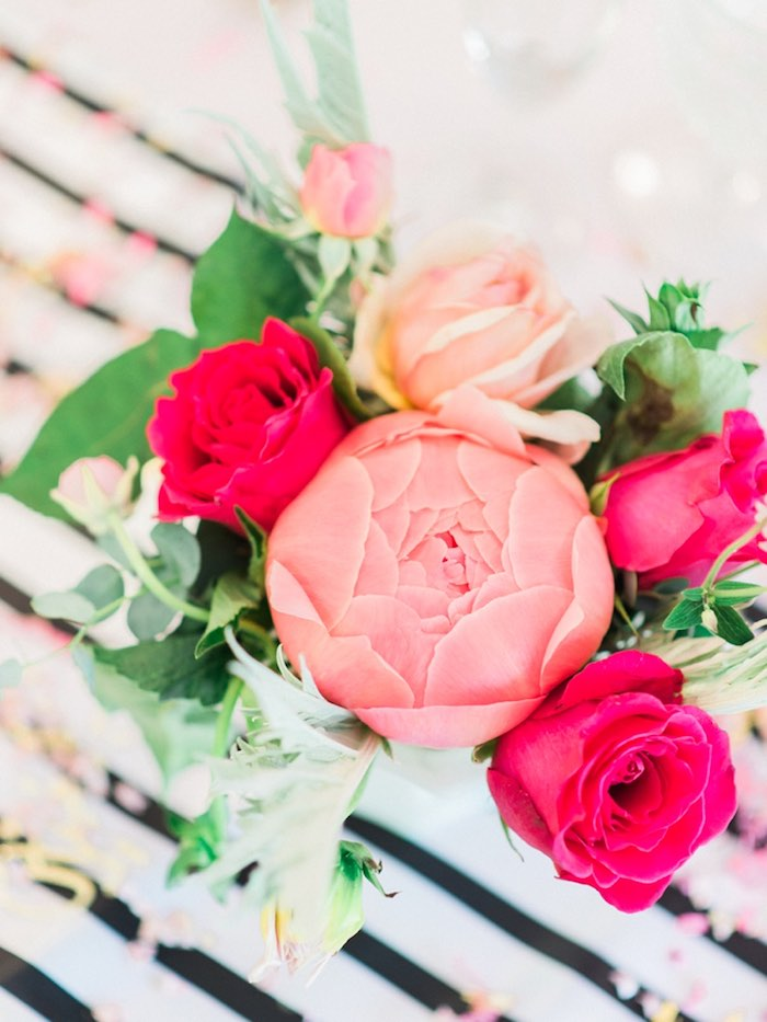 Florals from a Forty & Fabulous Floral Glam Birthday Party via Kara's Party Ideas | KarasPartyIdeas.com- The Place for All Things Party! (7)
