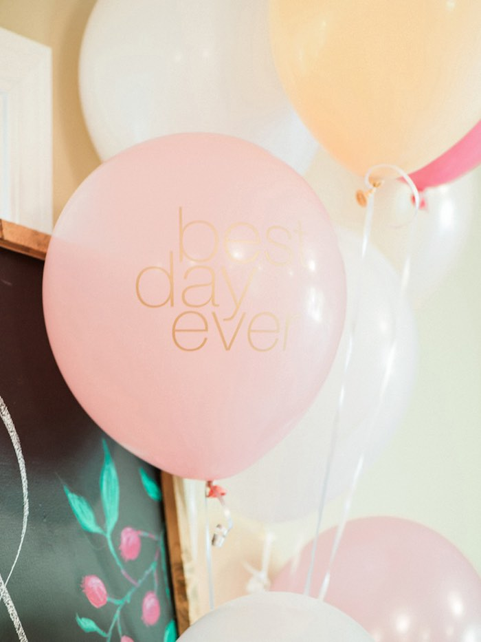 Balloons from a Forty & Fabulous Floral Glam Birthday Party via Kara's Party Ideas | KarasPartyIdeas.com- The Place for All Things Party! (6)