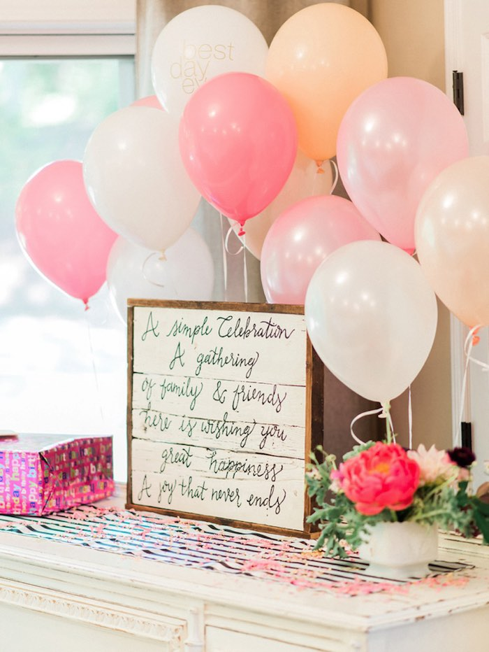 Forty & Fabulous Floral Glam Birthday Party via Kara's Party Ideas | KarasPartyIdeas.com- The Place for All Things Party! (4)