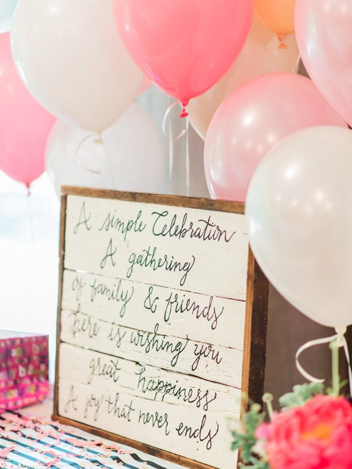 Adorable party details from a Forty & Fabulous Floral Glam Birthday Party via Kara's Party Ideas | KarasPartyIdeas.com- The Place for All Things Party! (34)