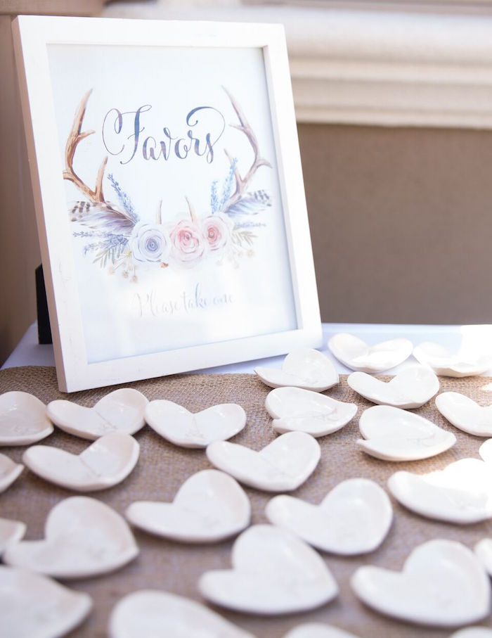 Heart-shaped favors from a French Country Bohemian Bridal Shower via Kara's Party Ideas | KarasPartyIdeas.com (36)