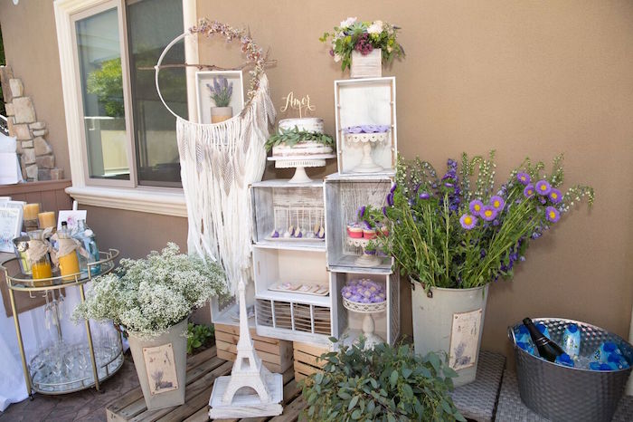 french country bohemian bridal shower via karas party ideas karaspartyideascom 16