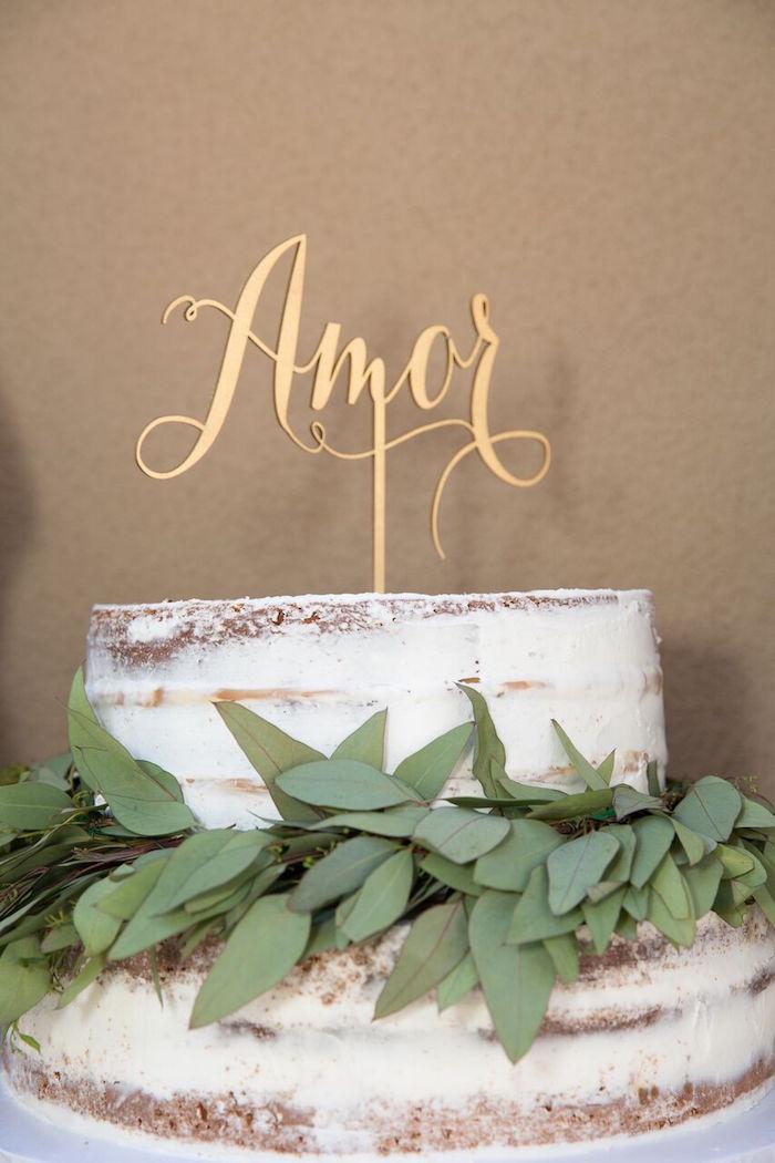 Beautiful cake from a French Country Bohemian Bridal Shower via Kara's Party Ideas | KarasPartyIdeas.com (15)