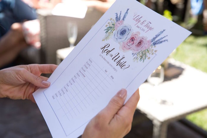 bohemian stationery signage from a french country bohemian bridal shower via karau0027s party ideas