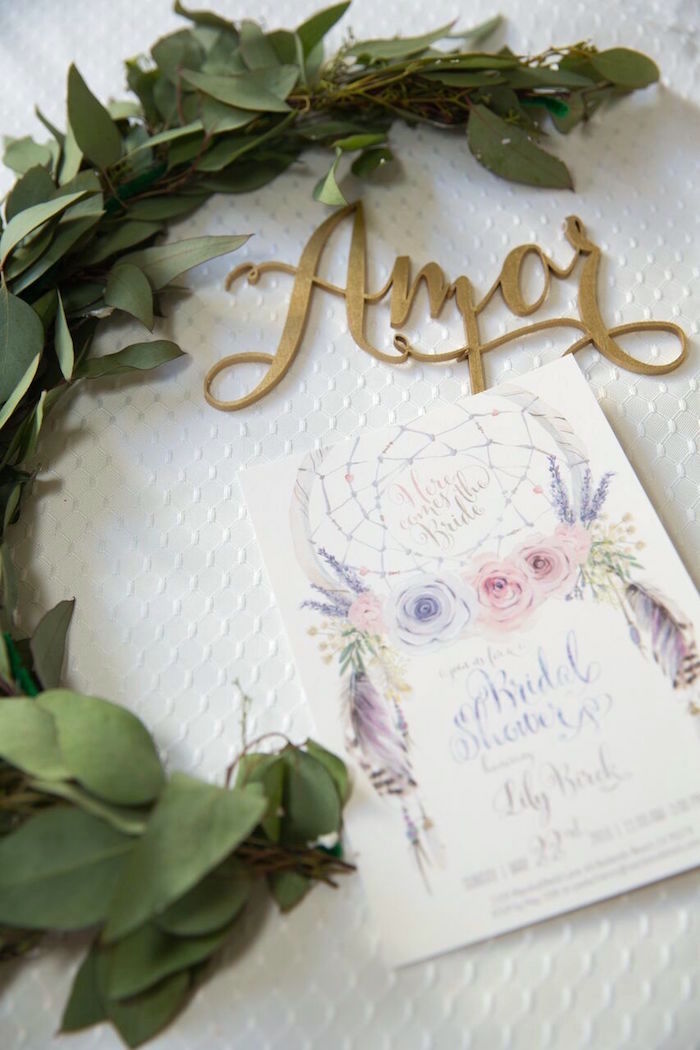 Invitation from a French Country Bohemian Bridal Shower via Kara's Party Ideas | KarasPartyIdeas.com (8)